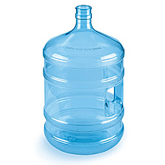 Reusable PC water bottles: 19 litre (5 gallon) with handle